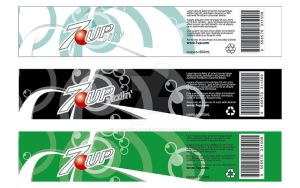 7up bottle label by Aesthari