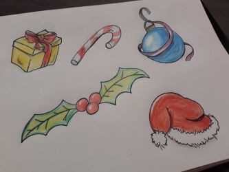 X-Mas Tattoo Flash by Artchivist
