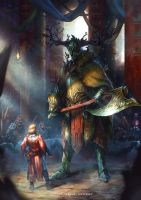 The Legend of Sir Gawain and the Green Knight by EGOR-URSUS