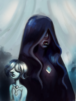 Blue Diamond and Blue Pearl by vorpos