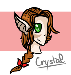 Request - Crystal OC by xXPixelTheDragonXx
