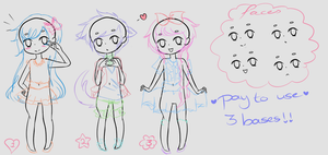 P2U Bases: 3 diffrent poses by Hunibi