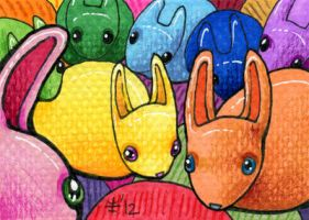 FurIdaho ACEO III - Color Buns by AnimeGirlMika