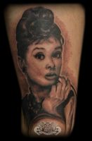 Audrey Hepburn by state-of-art-tattoo