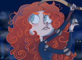 Brave Merida by Crystal-beastie