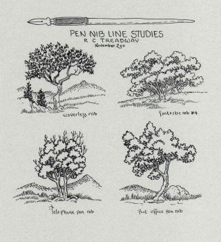 Tree Pen Nib Studies by Zage56