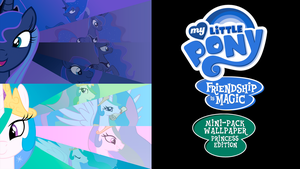My Little Pony FIM Mini-Pack Wallpaper Princess Ed by BlueDragonHans