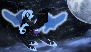 Nightmare Moon wallpaper by Elsdrake