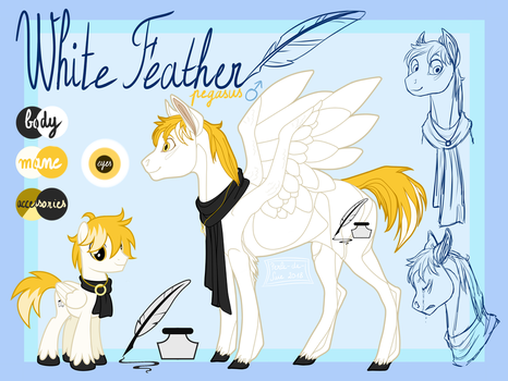 [COM] White Feather's reference by Perle-de-Suie