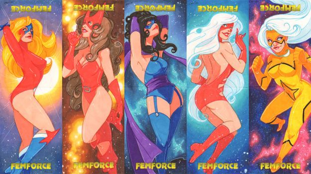 Femforce Puzzles by CapnFlynn