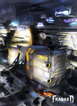 Corporation Spacecraft by Fragged-Empire