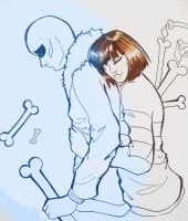 Undertale - SansXfrisk by MachanicSky