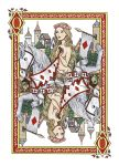 Lady Godiva Queen of Diamonds by dashinvaine
