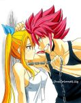 Natsu and Lucy (5) by OneColoredLily