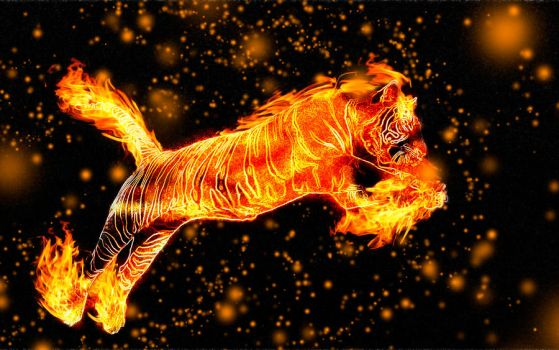 Fire Tiger by Crescentmoon19