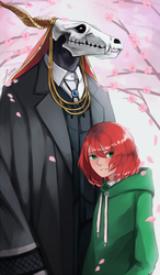 Elias and Chise by fireillisa