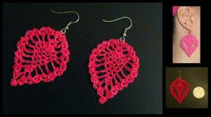 Pineapple Crochet Earrings by radioactive-orchid