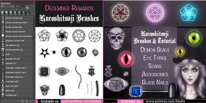 Kuroshitsuji Brushes and Tutorial by itaXita