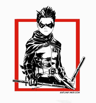 Damian Wayne by GatlingInks