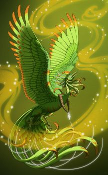 Green Bird of the Legends by Skudde