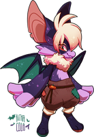#252 Fornlee w/m - Bat (CLOSED) by Kitkabean