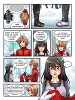 Commission: Kirita Chronicles Christmas Page 1 by manu-chann