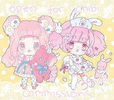 open for chibi commissions by Hacuubii
