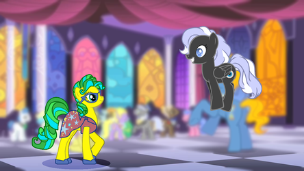 Winter Shade and Masquerade: first meeting by EcliptorCalrissian