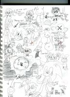 Page of doodles by BucketOfFail
