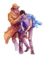 Lupin And Zenigata by Zinfer