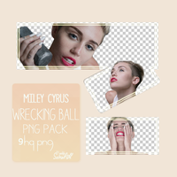 Miley Cyrus Wrecking Ball Png Pack by YeldaOzcn