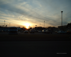 Day's End at a Parking Lot by Norski