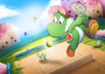 Commission: Just a common day on Yoshi's Island by MKDrawings