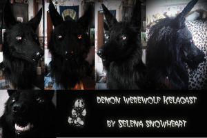 Demon werewolf mask by SnowVolkolak