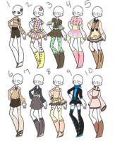 Outfit Adopts 34 *Closed* by Canaddicted