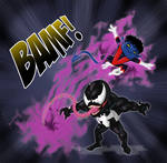 Nightcrawler vs Venom by Miguelhan