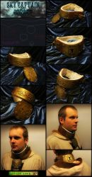 Sky Captain Steampunk Gorget by AetherAnvil