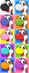 [FREE TO USE] Yoshi all colors by Hime--Nyan
