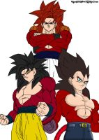 Preview Color Super Saiyan 4 Fusion by Blaze125521 by Dairon11
