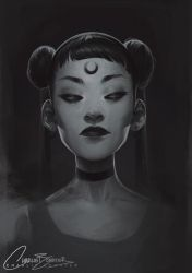 Moon by Charlie-Bowater