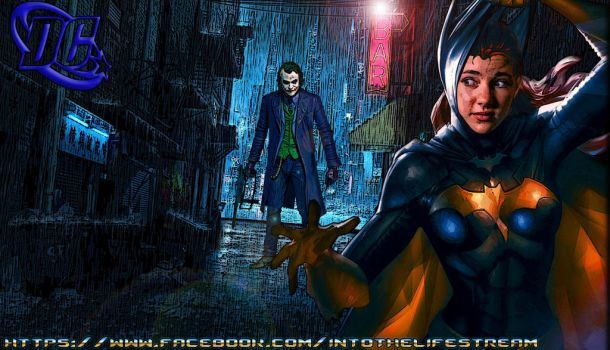 Batgirl and The Joker in a Dark Alley... by Gyaldhart