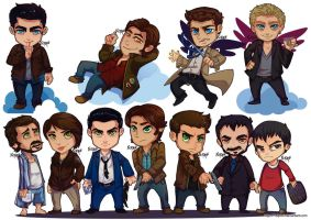 Commission: Chibi Supernatural by nupao