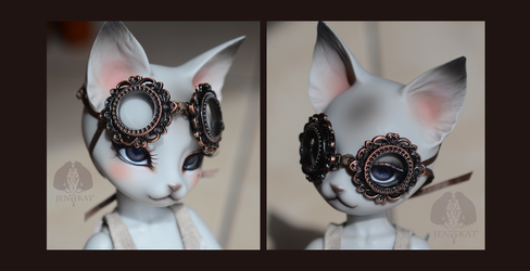 Adjustable Dolls Neo Victorian Steampunk Goggles by J-e-n-K-a-t