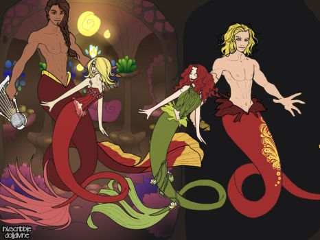 Crankrats Main Cast2 As Merpeople by Winry88