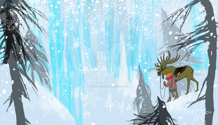 Gerda arrived at the castle of the Snowqueen by GabiWieczorek