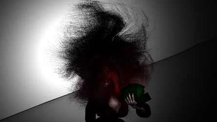Greed monster red hair 3D animation test by suki42deathlake