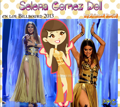 Selena Gomez Doll (en los Billboard 2013) by RoohEditions