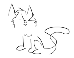 Epic Cat Drawing by JuKii