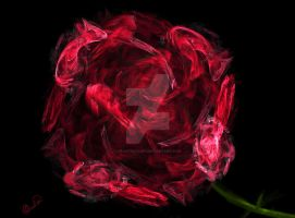 Dusty Rose for my Mother by FractalFairy