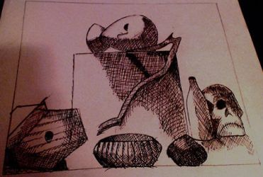 Still Life and Crosshatching by corpseandCo